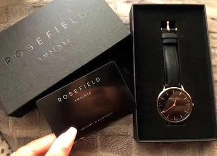 Rose field Watch (black and gold)