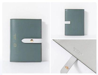 🚚 Brand New in Box Sage Green Cowhide Leather Wallet Womens