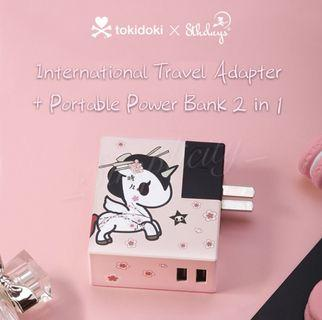 BNIB Authentic Tokidoki Travel Adapter + Portable Charger