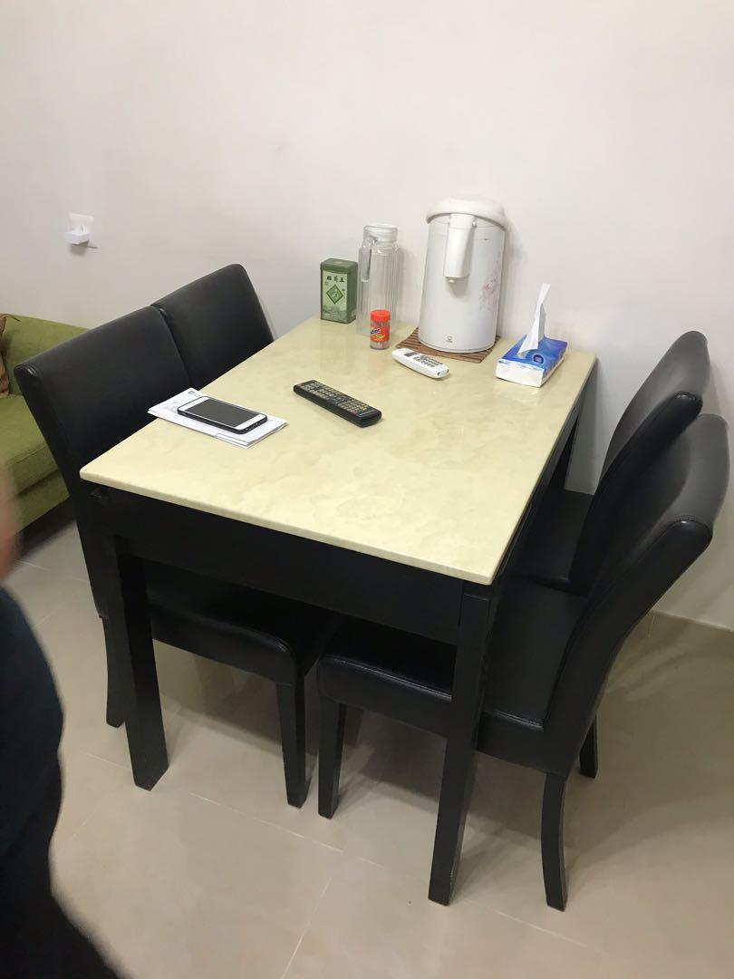 飯枱連4張椅子