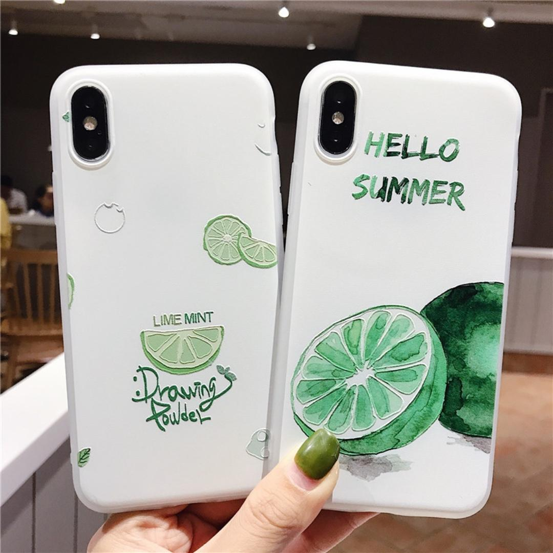 #5 & #6 - 100% NEW Korean Summer Lime Artistic iPhone Case