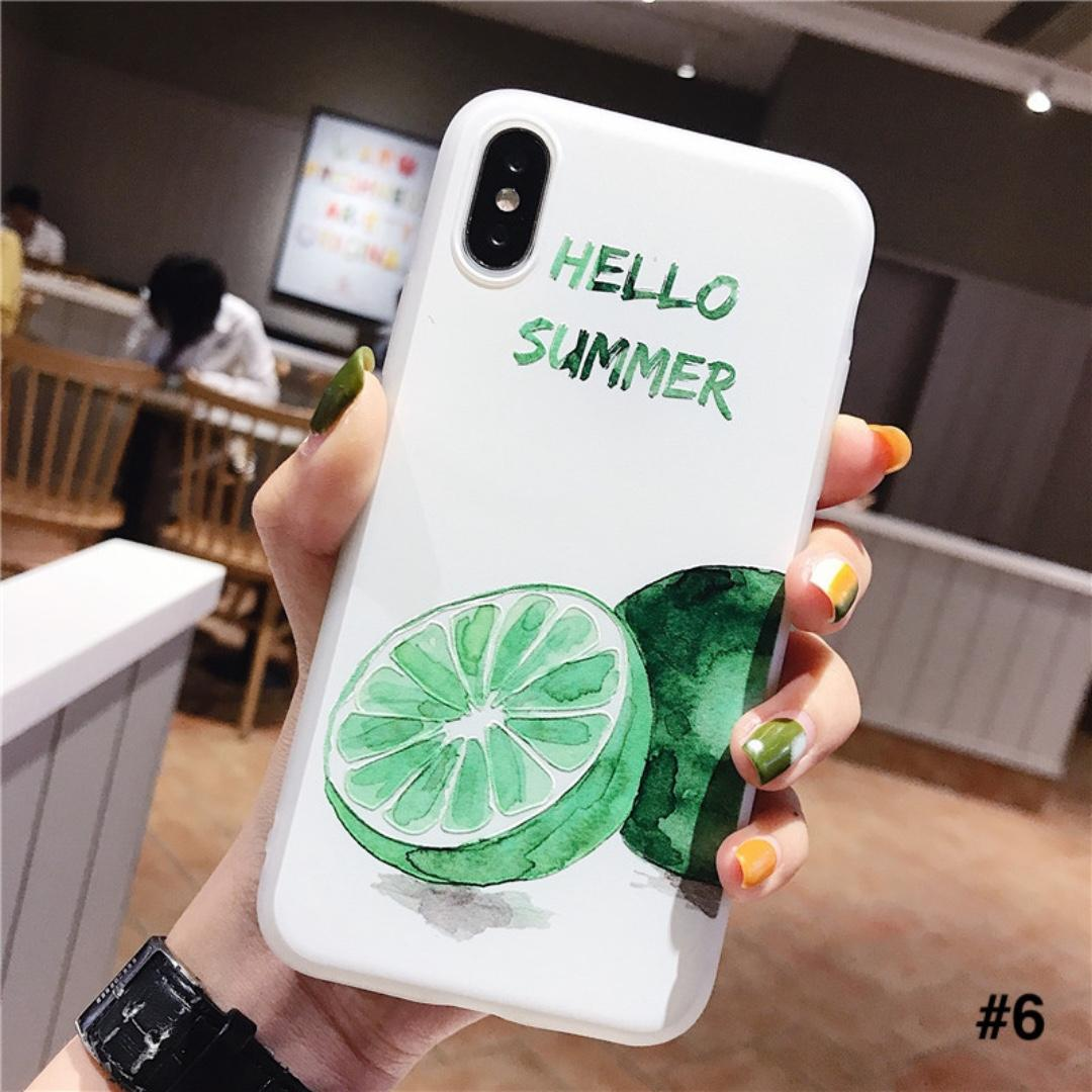 #5 & #6 - 100% NEW Korean Summer Lime Artistic iPhone Case