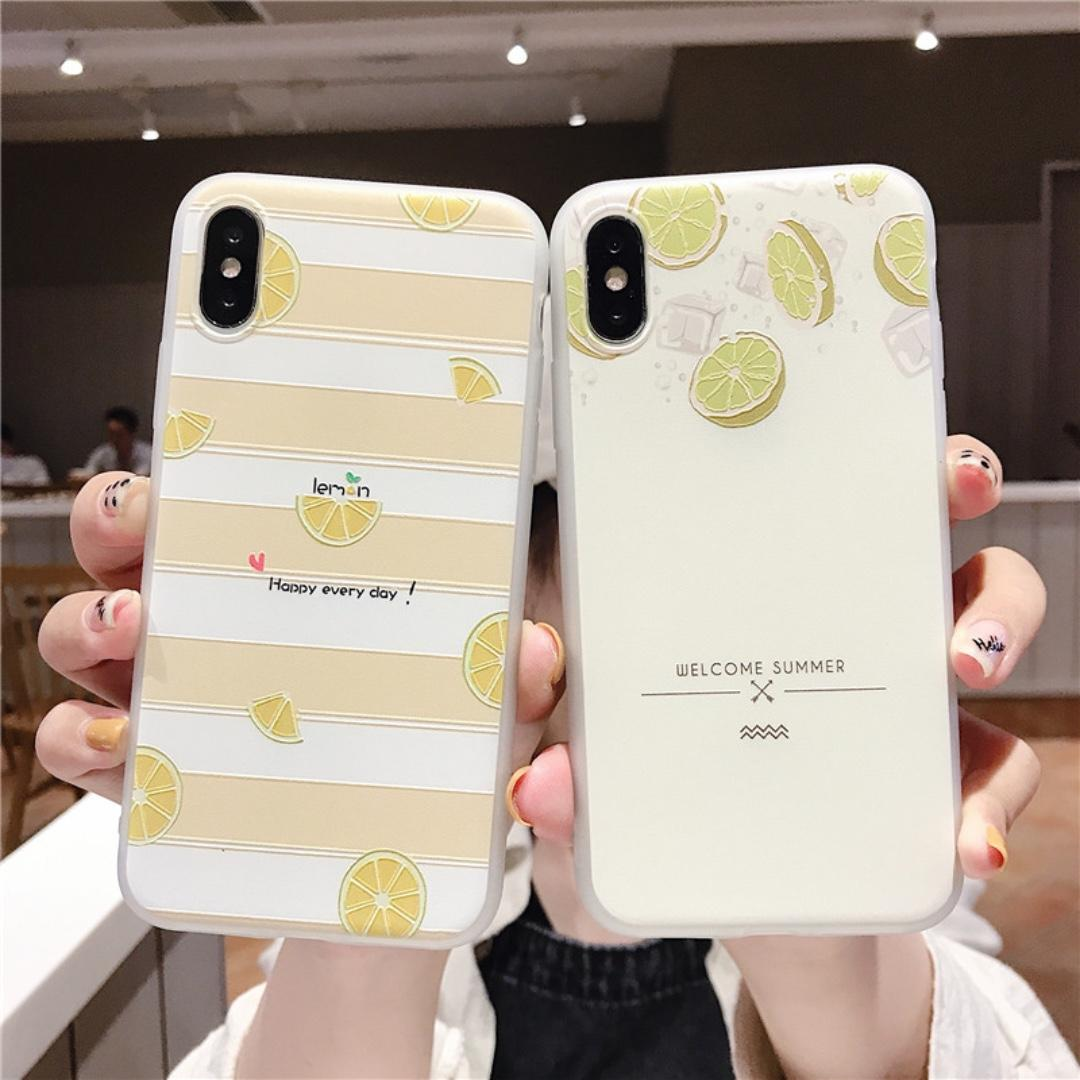#8 & #9 - 100% NEW Korean Summer Lemon iPhone Case