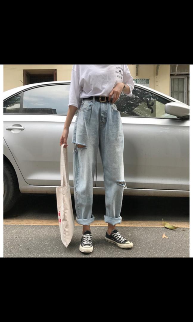 寬鬆高腰寬褲❤️