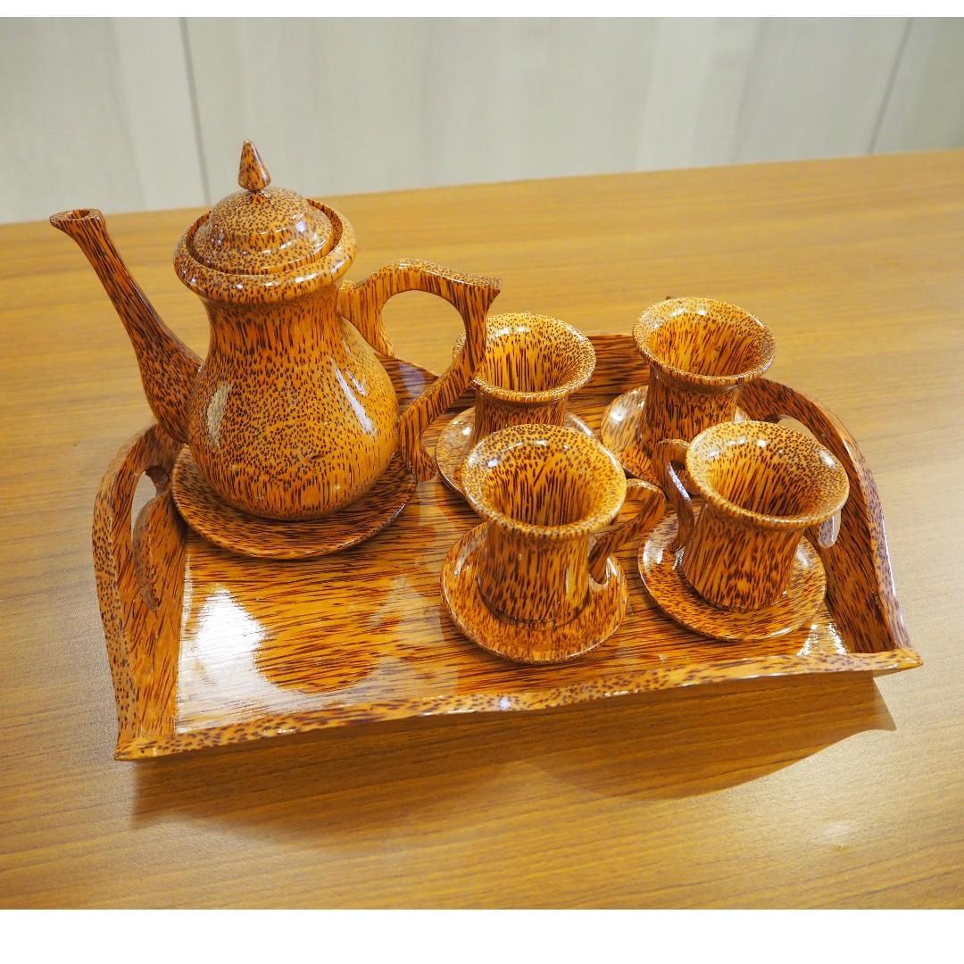 竹子茶或咖啡具組