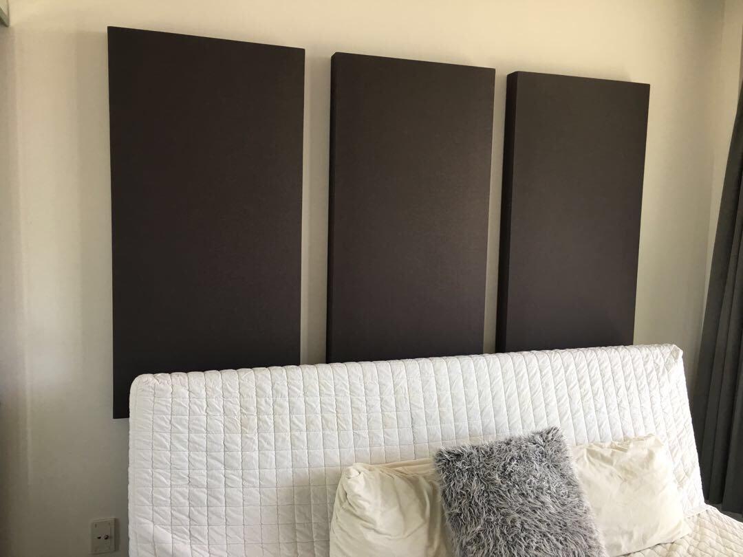 Acoustic panels for recording studio
