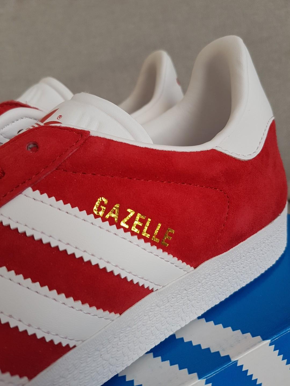 ADIDAS Gazelle UNISEX - Brand New - Scarlet / White / Gold -