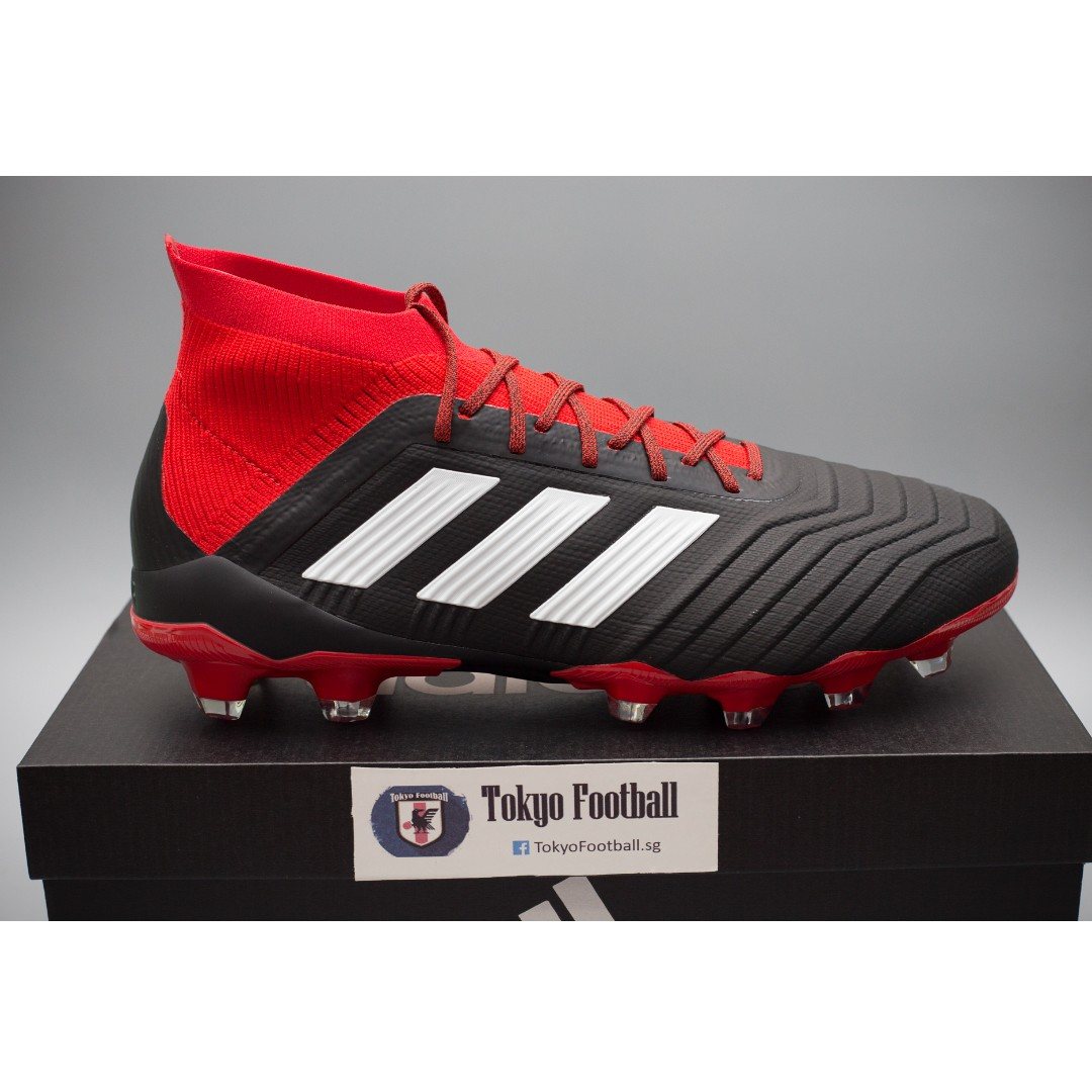fc38d06c6 Adidas Predator 18.1 Primeknit Japan HG / AG soccer football boots shoes  red/black, Sports, Sports Apparel on Carousell