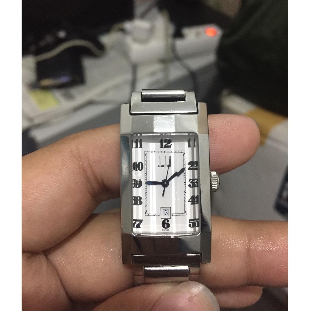 Alfred dunhill quartz watch jam tangan buatan swiss asli langka unisex