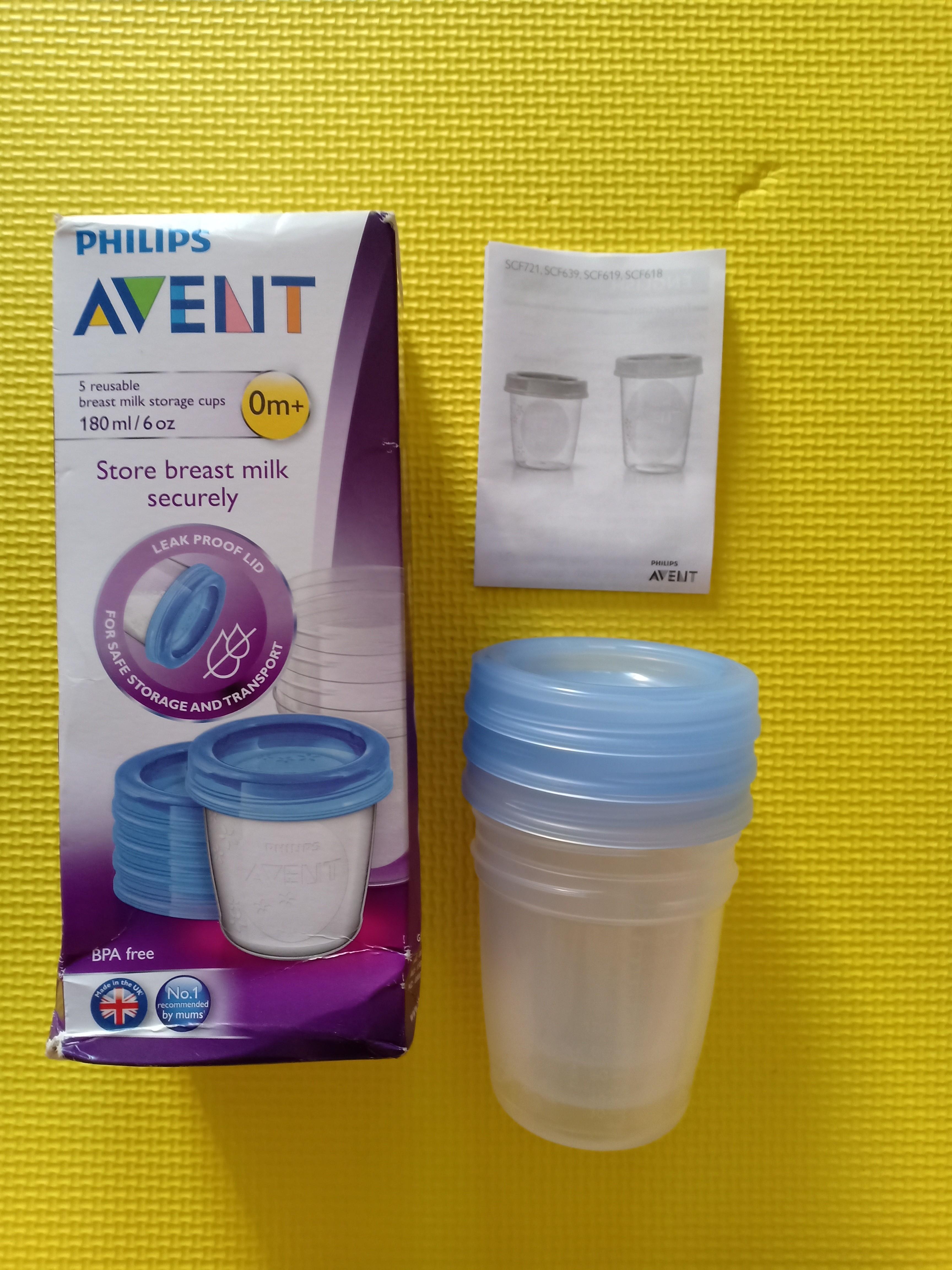 Avent breastmilk storage cups