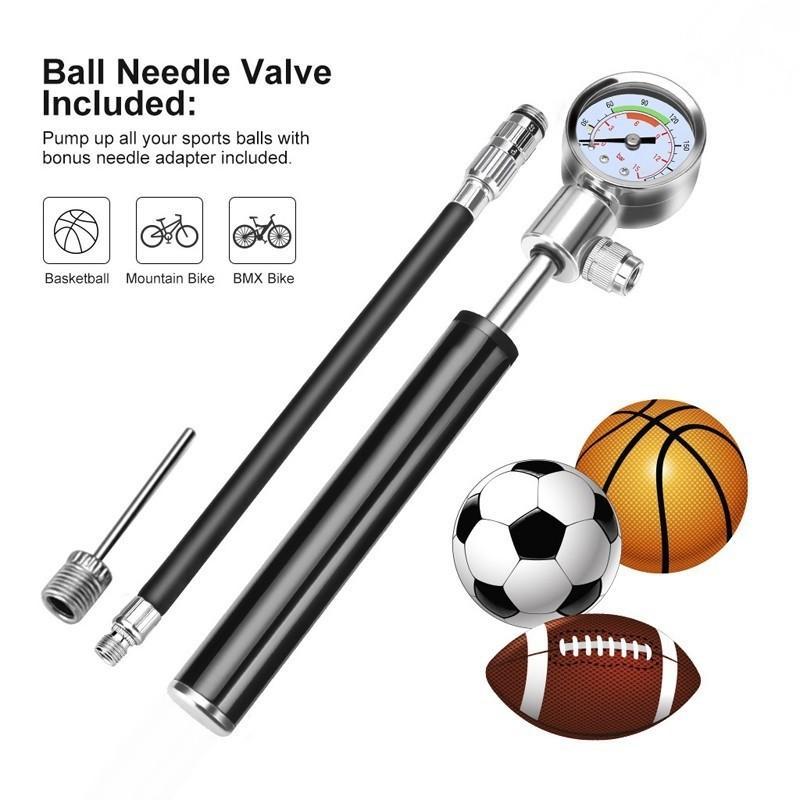 Basketball Hand High Pressure Ball Tire Inflator Mini Bicycle Pump MTB Bike