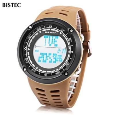 BISTEC 006 MALE DIGITAL WATCH LED DISPLAY ALARM STOPWATCH 3ATM MEN SPORT WRISTWATCH