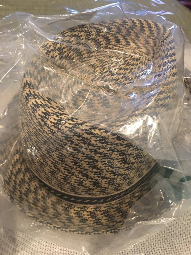 BNIP Bailey of Hollywood men's mannes braided fedora hat sz LG