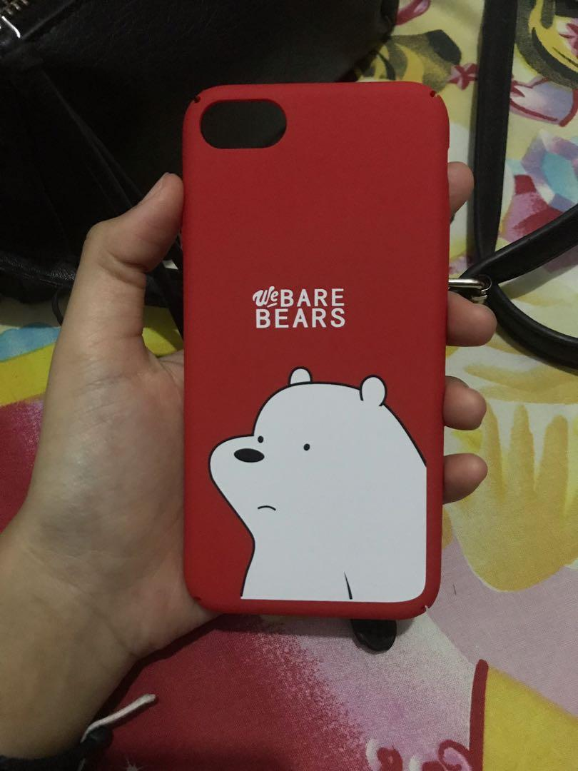Case iPhone 7 ice bear warna red