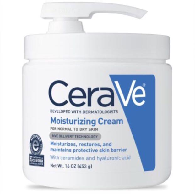 CeraVe Moisturizing Cream For Face & Body For Normal To Dry Skin With Pump 16oz
