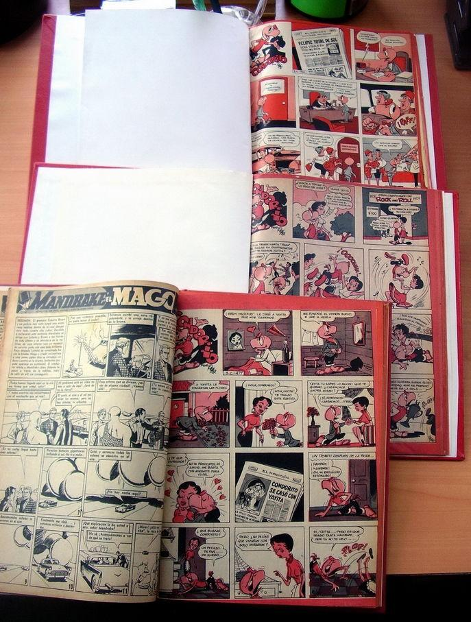 Comics in Spanish 16 empastes encuadernados condorito en okey mas cd obsequio
