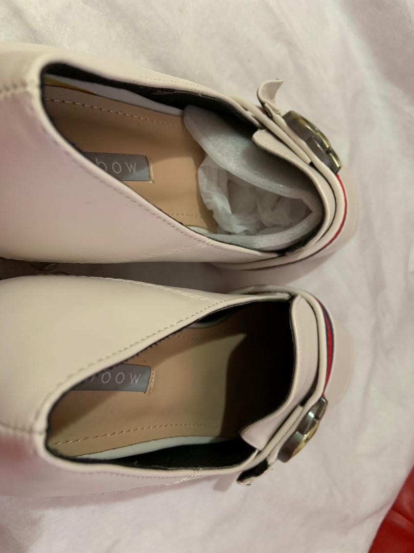 Flat Shoes With Pearl Loafers