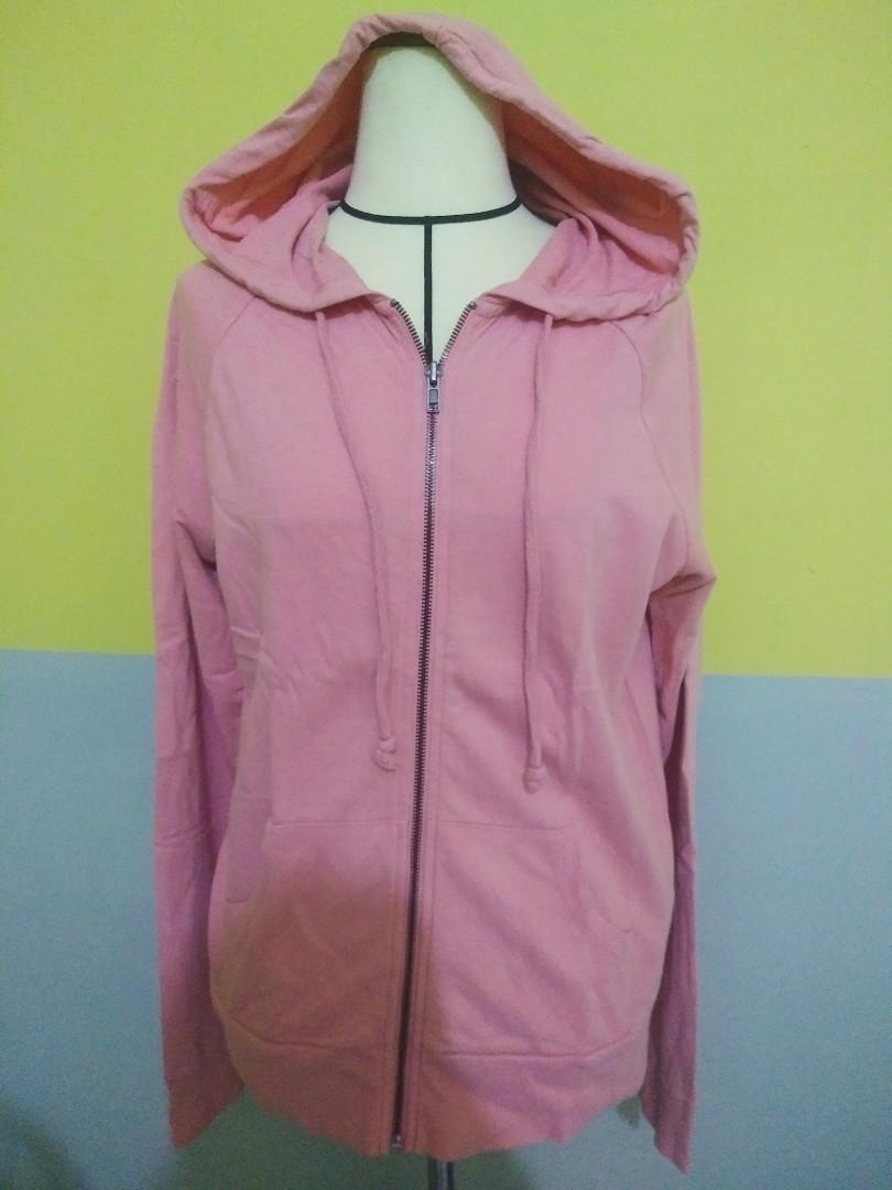 Forever21 Zipper Hoodie Pink