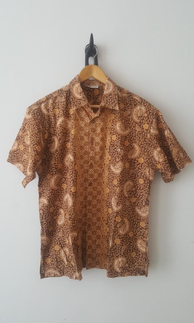 Free ongkir kemeja Batik keris coklat