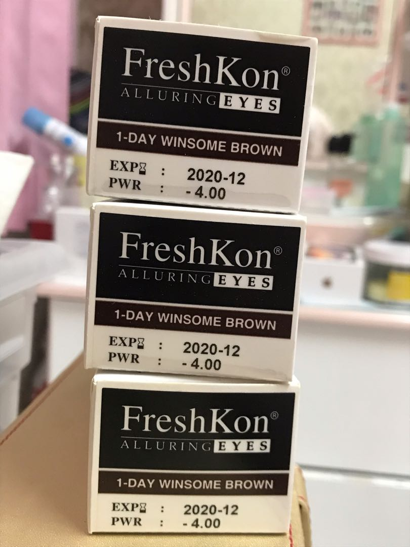 FRESHKON (-4.00 ) DAILY 30 pcs WINDSOME BROWN