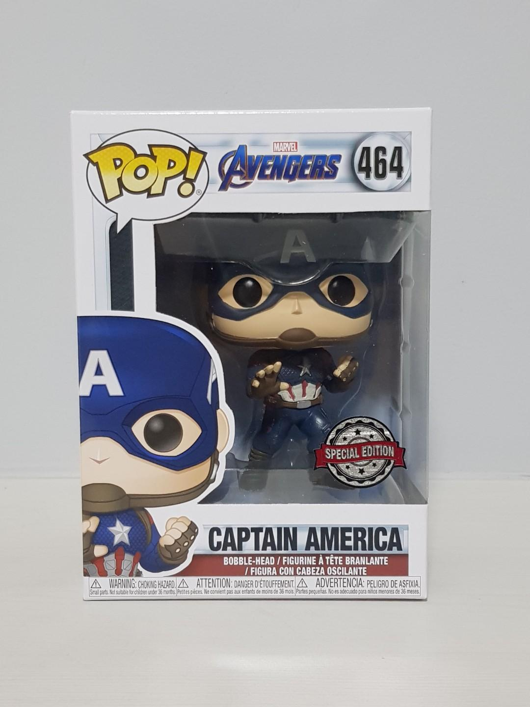Avengers 4 Endgame Funko Pop Captain America #464 Exclusive
