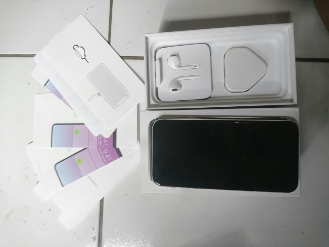 Iphone x 256 fullset mulus ex inter singapur