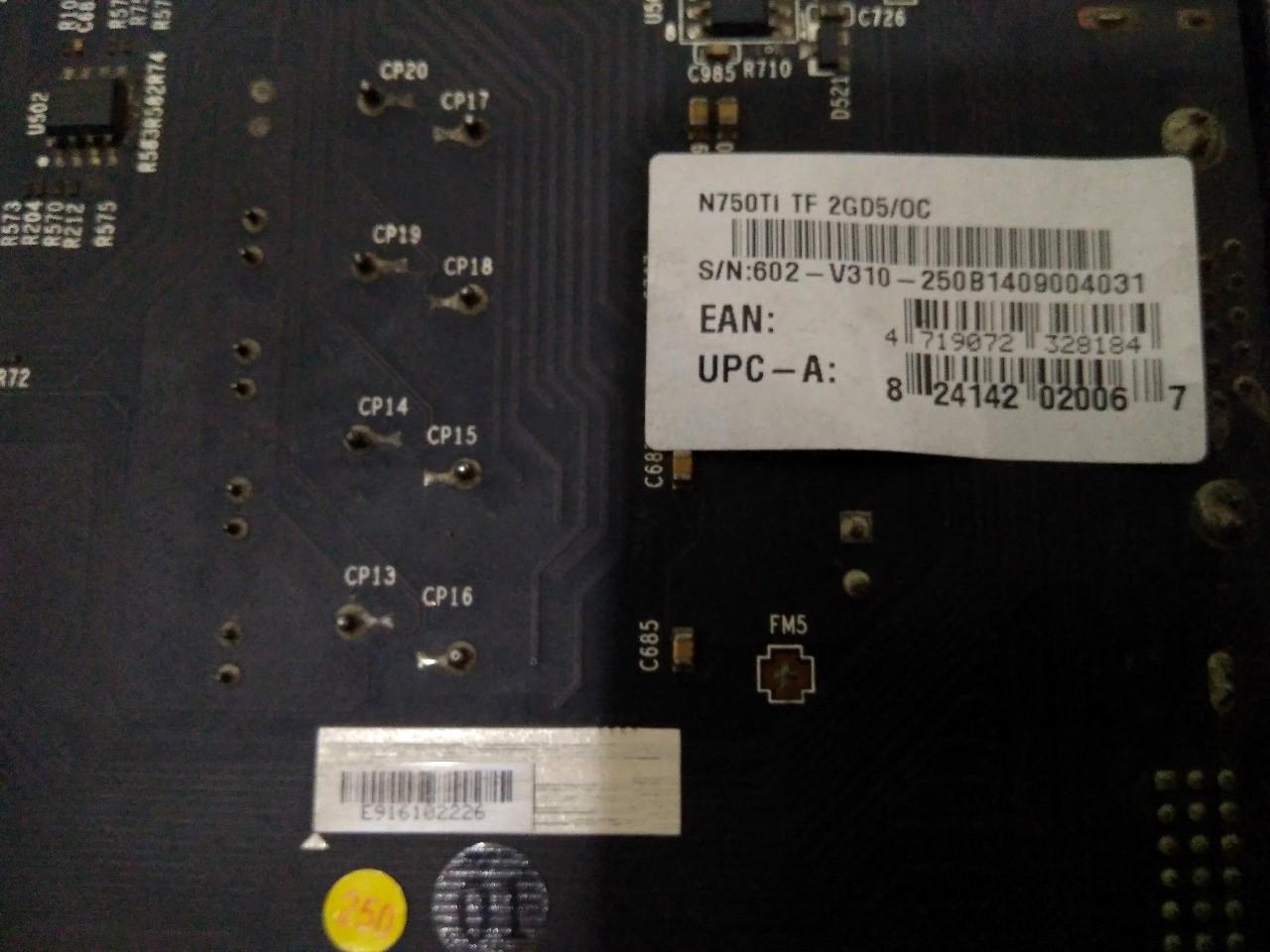 MSI GTX 750Ti TwinForzr 2GB DDR5 128bit dx12 OC