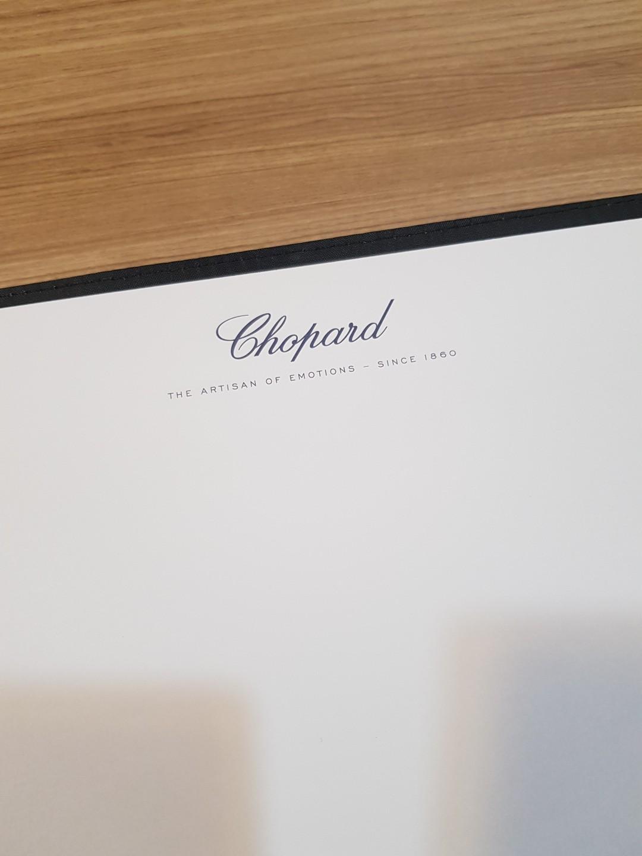 #officialmerchandise CHOPARD map, Journal, book, organiser singapore ,no rolex tag heuer