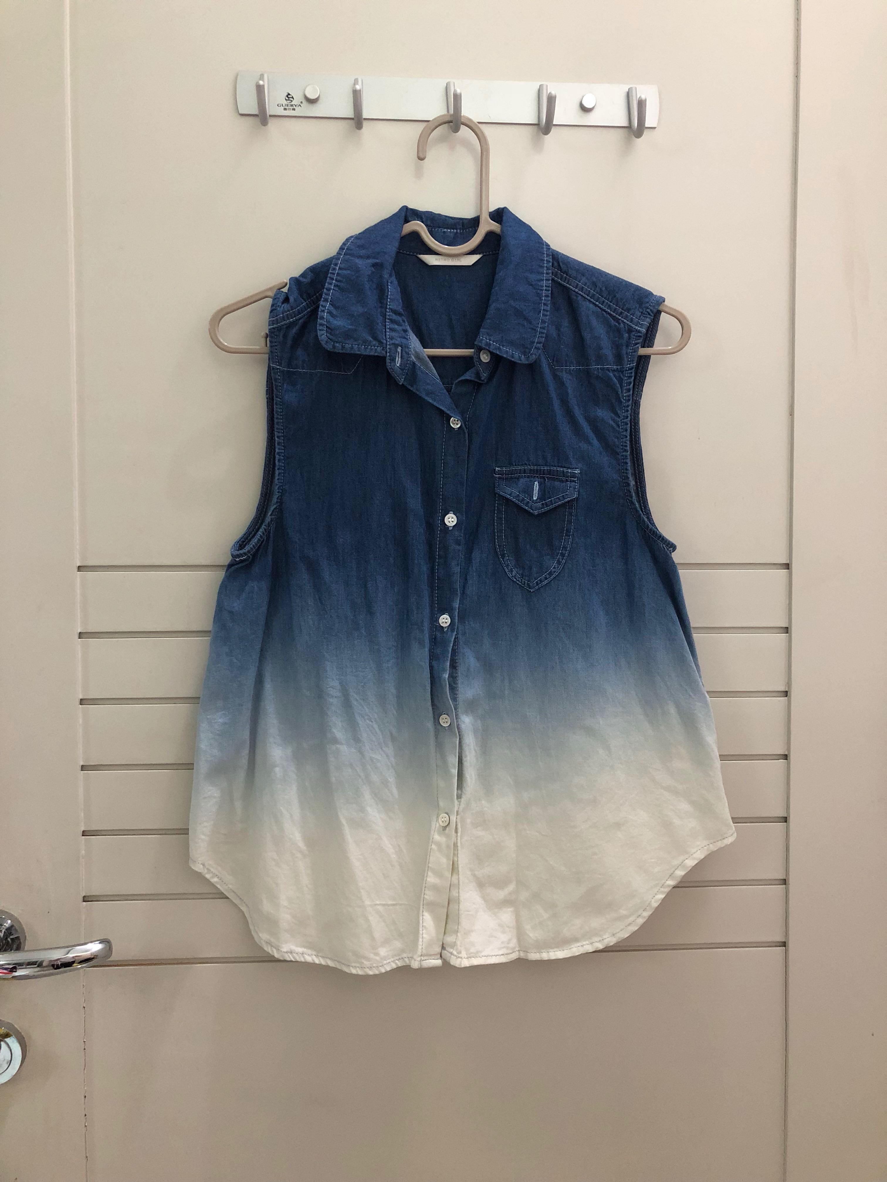RETRO GIRL denim top