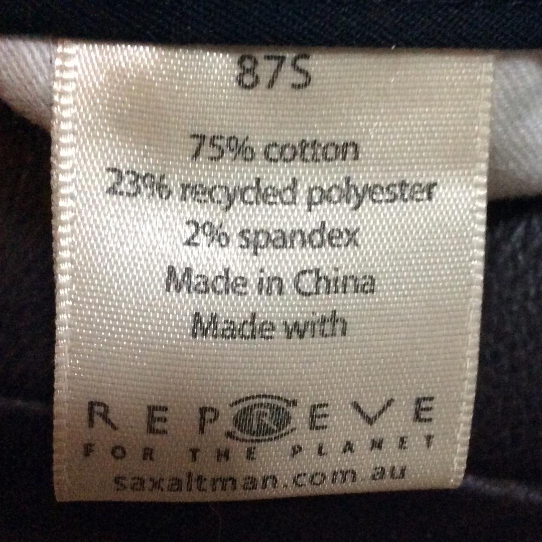 Sax Altman men's business pants black 87S
