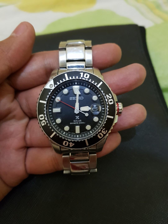 Seiko Prospex SNE437P1 Solar Divers 200M Black Dial
