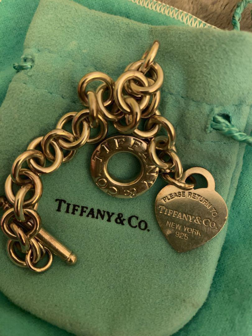 Tiffany & Co Heart Tag Toggle Bracelet Sterling Silver
