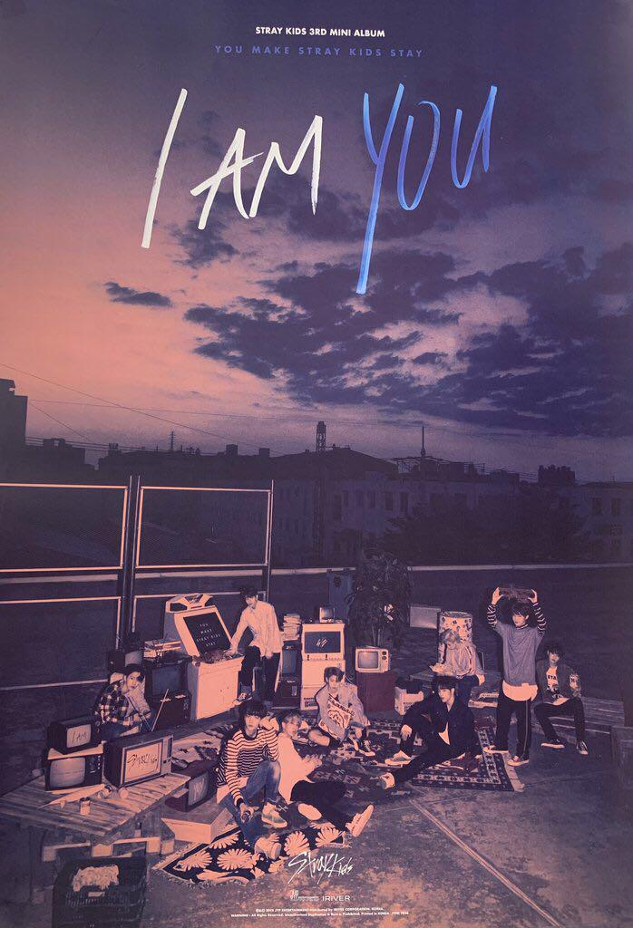 UNSEALED Stray Kids I am You (Iam Ver.) album + poster ONLY