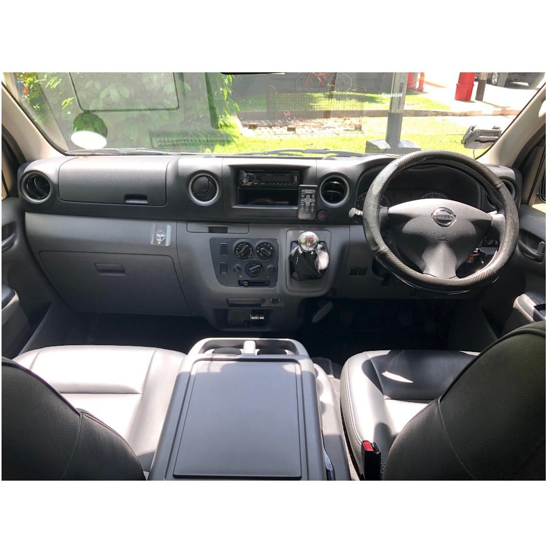 Van for rent, Van rental, NISSAN NV350 2.5L 2018 MANUAL DIESEL @ Hillview MRT