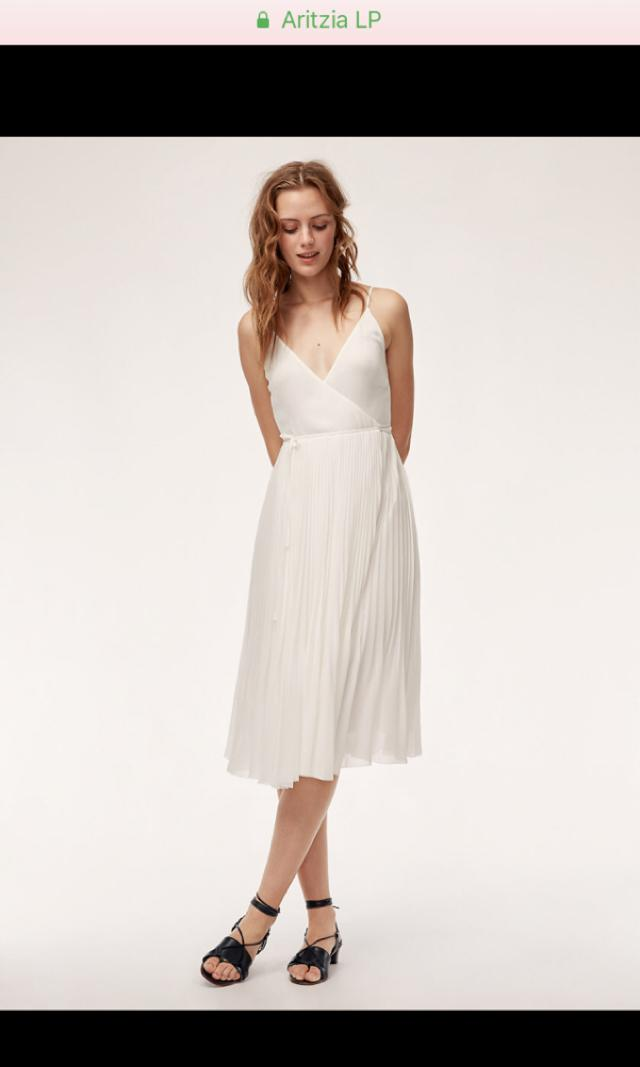 XS Wilfred SHORT Beaune dress in WHITE from Aritzia
