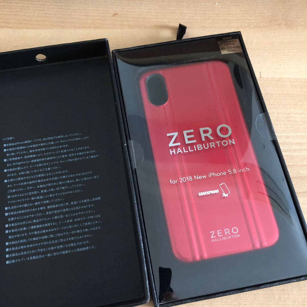 detailed look b05d2 fb9b6 ZERO HALLIBURTON IPHONE X RED POLYCARBONATE COVER