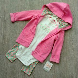 🚚 NEW 6M Carter's 'Just One You' Girl's 3 Pcs Set