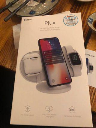 Vinpok plux 3合1無線充電stand黑/白