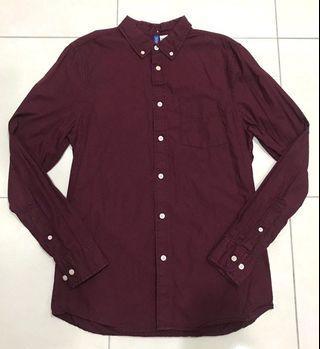 H&M Maroon L/S Shirt
