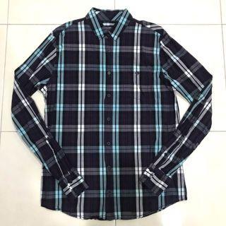 Pull & Bear Blue Dark Purple L/S Shirt