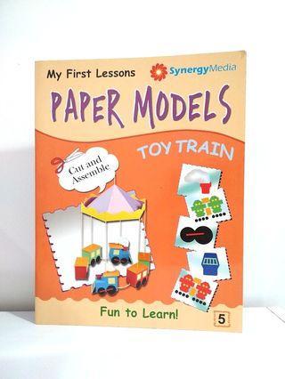 Paper Model Toy Train DIY Craft