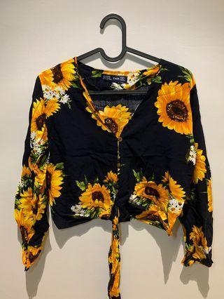 Zara flora top