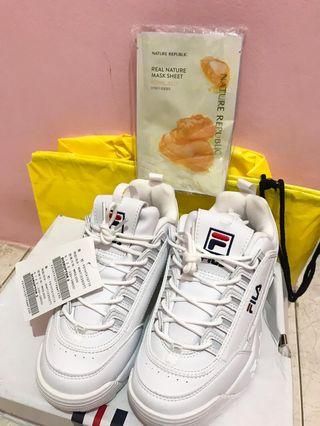 FILA Disruptor II Full White