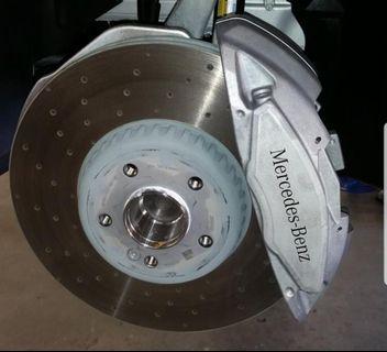 C200 AMG Line brakes