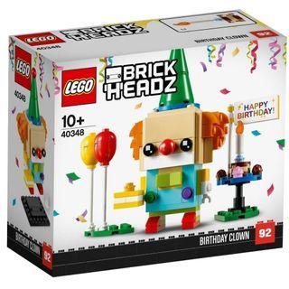 LEGO 40348 - Seasonal Year 2018 - BrickHeadz - Birthday Clown (NEW)