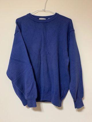 寶藍色中性毛衣
