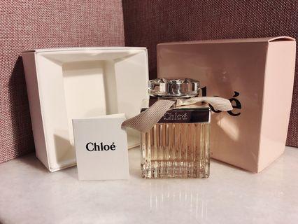 🚚 99%新Chloe經典款黃緞帶香水75ml