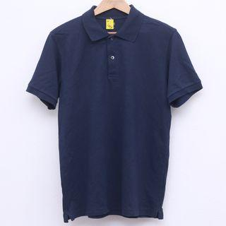 Size L UNIQLO Shirt in Navy Blue Pit 21