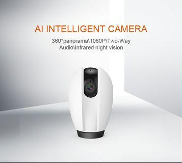 AI Intelligent mobile tracking wireless camera 1080P HD Home wifi network cloud storage surveillance camera-intl