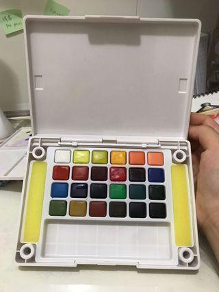 櫻花水彩 Koi watercolor 固體水彩
